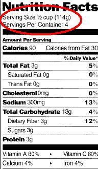 serving-size-nutrional-label